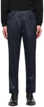 Daniel W. Fletcher Navy Satin Jeans