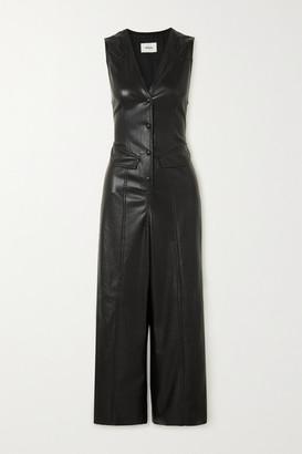Nanushka Freya Vegan Leather Jumpsuit