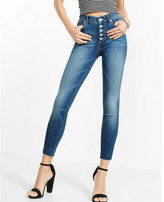 Express high waisted raw hem cropped jean legging