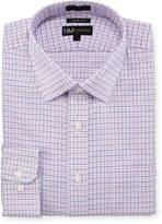 Neiman Marcus Trim-Fit Non-Iron Dobby Houndstooth Dress Shirt