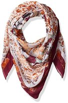 D&Y Women's Floral Print With Solid Border
