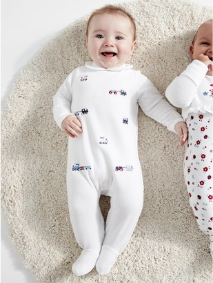 M&Co Train velour sleepsuit (Tinybaby-18mths)
