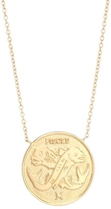 Jennifer Zeuner Jewelry Sylas 14K Gold Vermeil Pisces Medallion Necklace