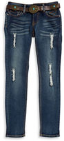 Vigoss Girls 7-16 Belted Distressed Jeans