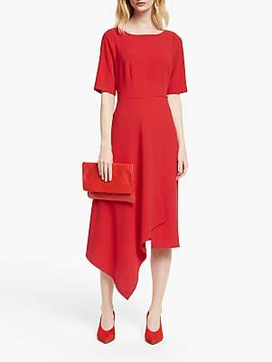 John Lewis & Partners Drape Front Dress