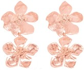 Lily Flo Jewellery Apple Blossom Drop Earrings In Solid Rose Gold