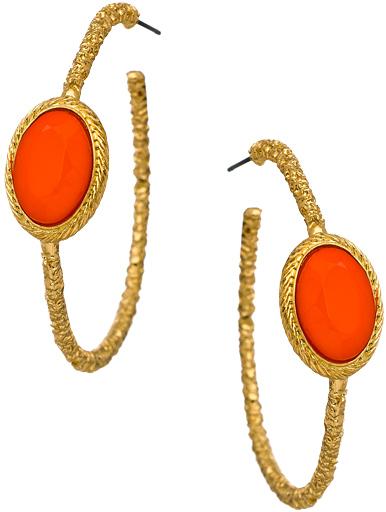 Blu Bijoux Pebble Hoop Earrings