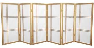 Oriental Furniture 3 ft. Tall Double Cross Shoji Screen - - 6 Panels