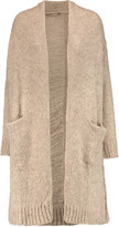 Current/Elliott The Long Slash Pocket distressed alpaca-blend cardigan