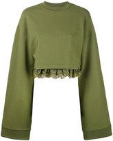 Fenty X Puma - Fenty cropped sweatshirt - women - Cotton/Polyester/Spandex/Elastane - S