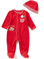 Little Me Baby Boys Newborn-9 Months My First Christmas Holiday Gift Footed Coverall