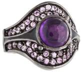 MCL by Matthew Campbell Laurenza Amethyst & Sapphire Cocktail Ring