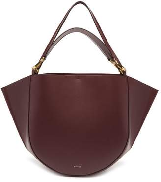 Wandler Mia Large Leather Tote Bag - Womens - Burgundy