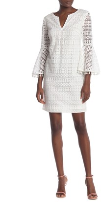 Trina Turk Loomis Embroidered Beaded Cuff Dress