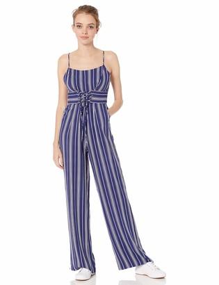 BB Dakota Junior's of Corset is Printed Stripe Jumpsuit