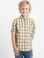 Gap Plaid poplin button-down shirt