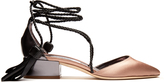 Jimmy Choo Duchess-satin and leather sandals