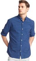 Gap Indigo stripe slim fit shirt