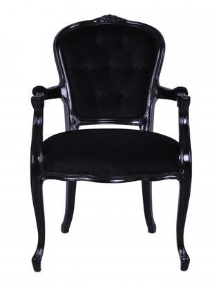 Carter Sinclair Louis Xv Chair Black