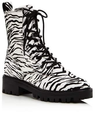 Dolce Vita Women's Gregor Zebra-Print Hiker Boots - 100% Exclusive