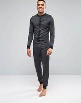 Asos Loungewear Grandad Onesie In Silver Glitter