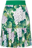 Dolce & Gabbana pleated hem mini skirt - women - Silk/Spandex/Elastane - 38