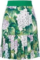 Dolce & Gabbana pleated hem mini skirt - women - Silk/Spandex/Elastane - 40