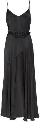 Mara Hoffman Nina woven-belt satin maxi dress