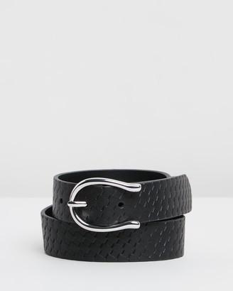 Topshop Textured Wishbone Belt
