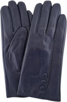 "SNUGRUGS Ladies Butter Soft Premium Leather Glove with Classic Triple Button, Stitch Detail & Warm Fleece Lining. (Medium - 7"")"