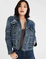 American Eagle Outfitters AE Classic Patched Denim Jacket