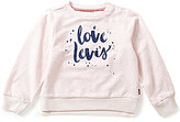 Levi's Baby Girls 12-24 Months Printed Crewneck French Terry Tee