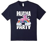 Men's Pajama Party Retro Cute Unicorn Rainbow Bed Time PJ T-Shirt Medium