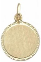 FindingKing 14K Gold Engravable Medallion Charm 17mm