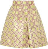 Moschino Cheap & Chic Moschino Cheap and Chic Metallic cotton-blend jacquard skirt