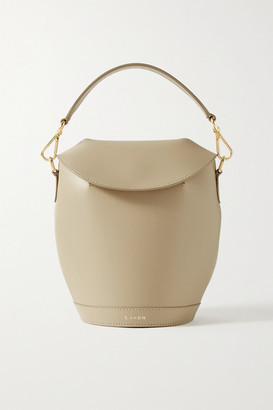 BEIGE S.Joon - Milk Pail Leather Tote