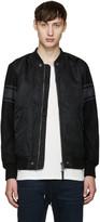 Diesel Black W-Kitt Bomber Jacket