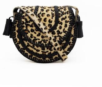 Nooki Design D'Souza Crossbody - Hair On Leopard Print