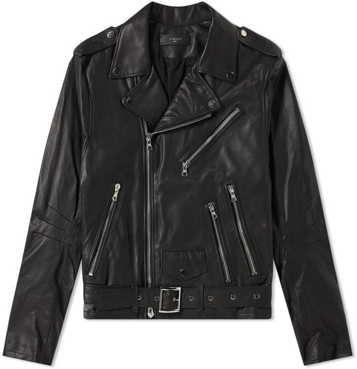 Amiri Lightweight Leather Biker Jacket