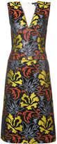 Derek Lam Sleeveless V-Neck Sheath Dress With Belt