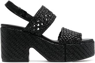 Clergerie Corey woven platform sandals