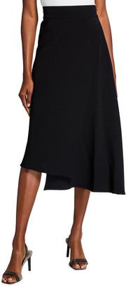 Brunello Cucinelli Cady Crepe Layered Asymmetric Skirt