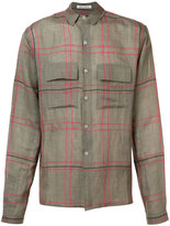 Denis Colomb checked shirt - men - Linen/Flax/Cashmere - M