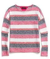 Tommy Hilfiger Big Girl's Heathered Stripes Knit Top
