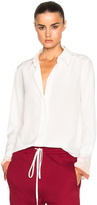 Chloé Crepe De Chine Button Up Blouse