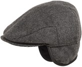 Weatherproof Large Herringbone Driving Cap - Ear Flaps (For Men)