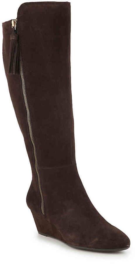 3b55fe2778a Alanna Wide Calf Wedge Boot - Women's
