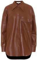 Tibi Faux-leather shirt