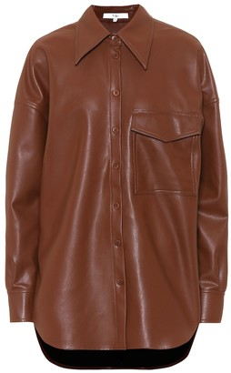 Tibi Utility faux-leather shirt