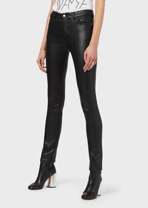 Emporio Armani Super Skinny J18 Coated Trousers